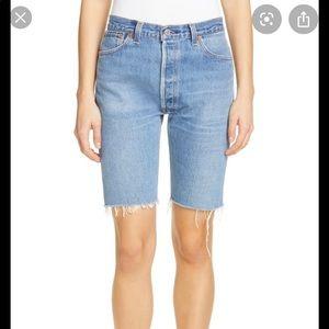 Re/Done Long Repurposed Bermuda Shorts